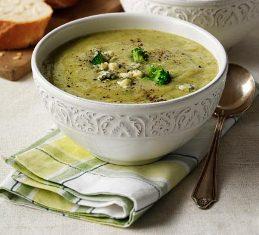 سوپ پنیر (آبی) و کلم بروکلی