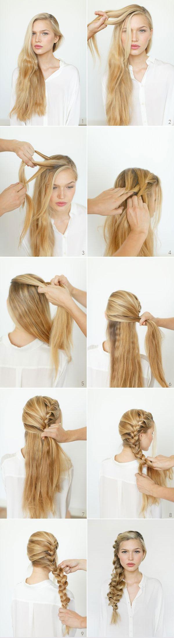 آموزش تصویری بافت مو دخترانه