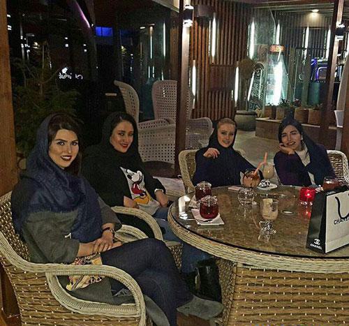 الناز حبیبی در هتل استقلال
