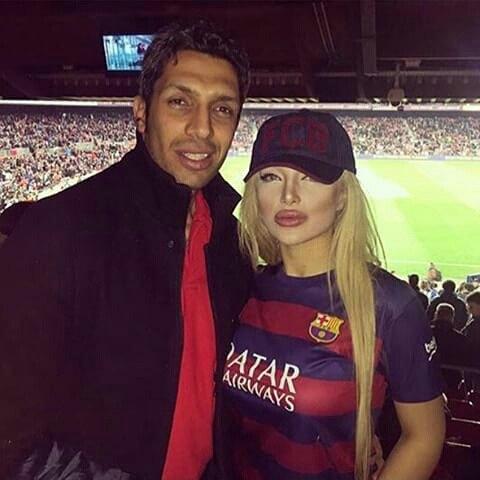 سپهر حیدری و همسرش