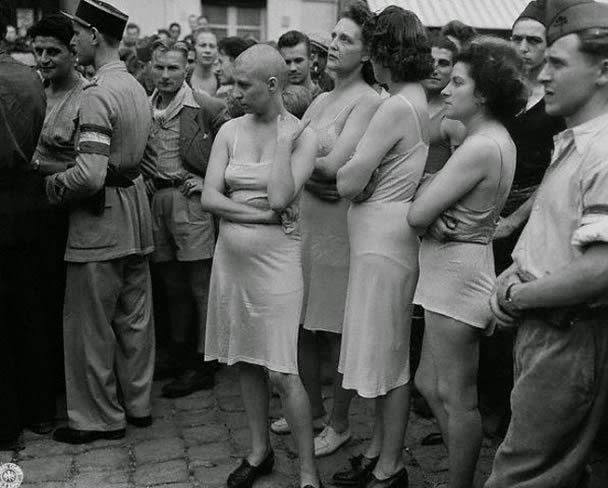 تصاویری تکان دهنده از مجازات زنان خیانتکار در جنگ جهانی دوم
