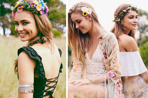 تزئین مو با گل