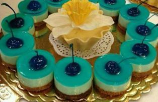 چیز کیک با ژله بلوبری