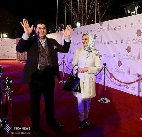 عکسهای جشنواره ایی سالار عقیلی و همسرش حریر