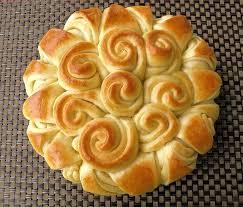 نان به شکل گل بسیار زیبا