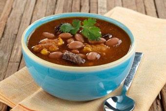 سوپ شیرین لوبیا قرمز و برنج گلوتن دار