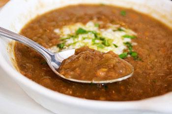 سوپ عدس و سیر