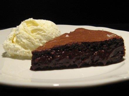 کیک شکلاتی نیمه مایع