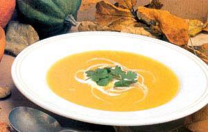 سوپ تره فرنگی و کدو حلوایی
