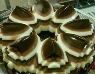 دسر شکلاتی راه راه