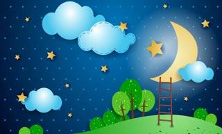 شعر کودکانه شب اومد و ستاره