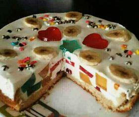 چیز کیک با ژله خورده شیشه