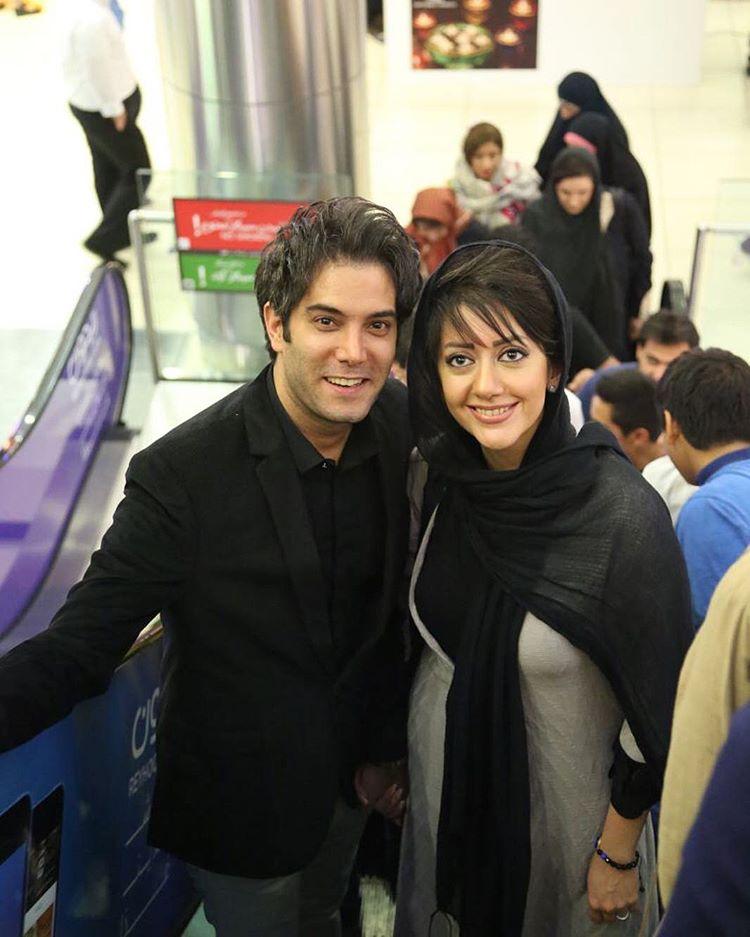 امیرعلی نبویان و همسرش بهار نوروزپور