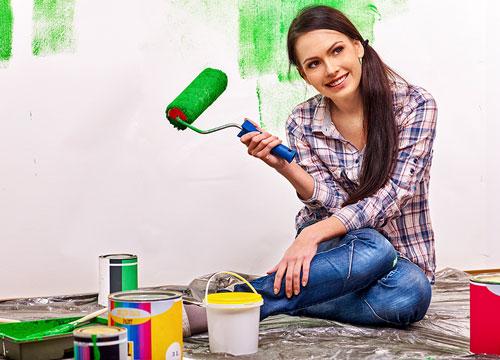 رنگ کردن خانه