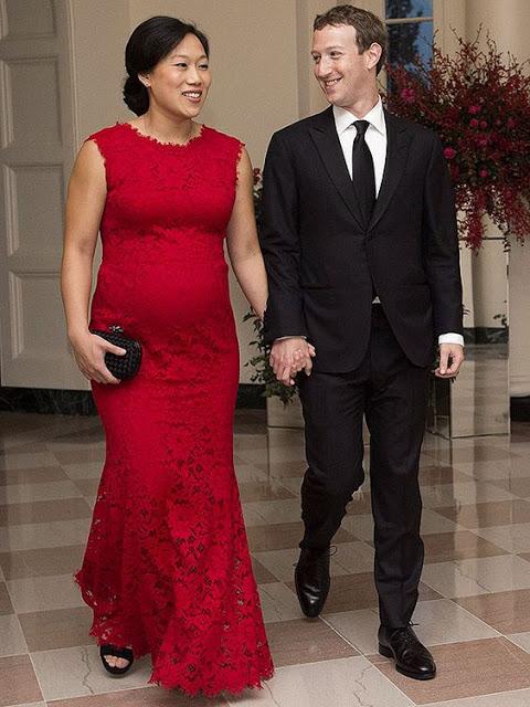 مارک زاکربرگ و همسرش پریسیلا