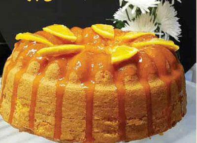 کیک با سس پرتقال