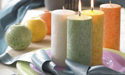 استفاده از شمع در دکوراسیون